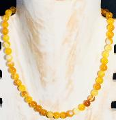 Collier en Agate orange