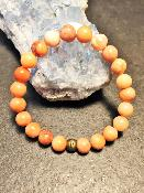 Bracelet Aventurine Orange Ancien Pierres Naturelles