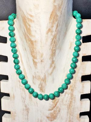 Collier en Malachite Naturelle 10 mm