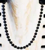 Collier en obsidienne