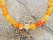 Collier Agate orange