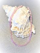 Collier Pierres Naturelles Quartz Rose